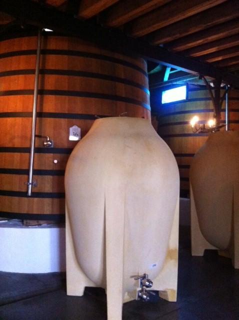 Amphora for ageing at Pontet Canet