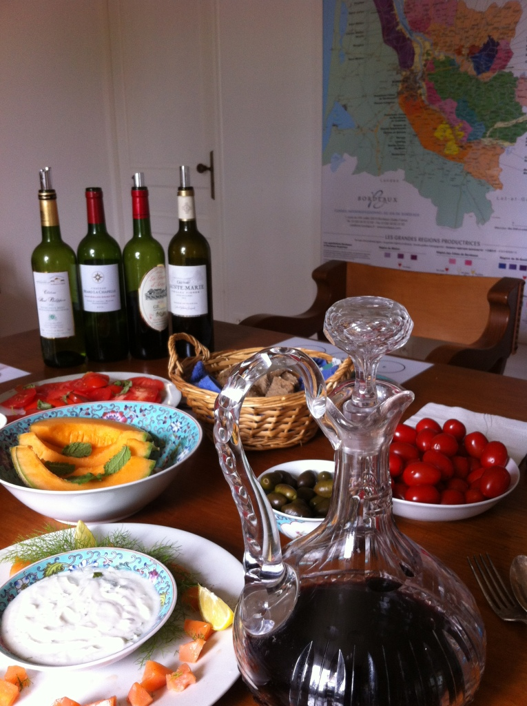 Wine and Food Tasting at my winetasting atelier in Fronsac