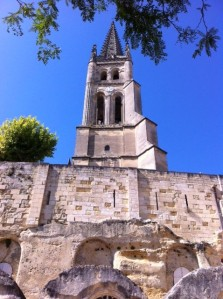 St Emilion spire in the sunshine 24 September