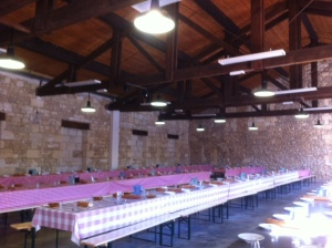 Lunch prepares for the 250 pickers at Pontet Canet (mostly from Portugal)