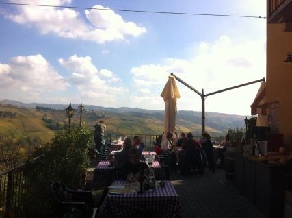 Castiglioni Falleto view from la Terrazi