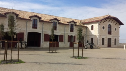 New buildings at Pontet Canet including an open stable for twenty Percheron horses