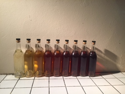 different aged armagnacs